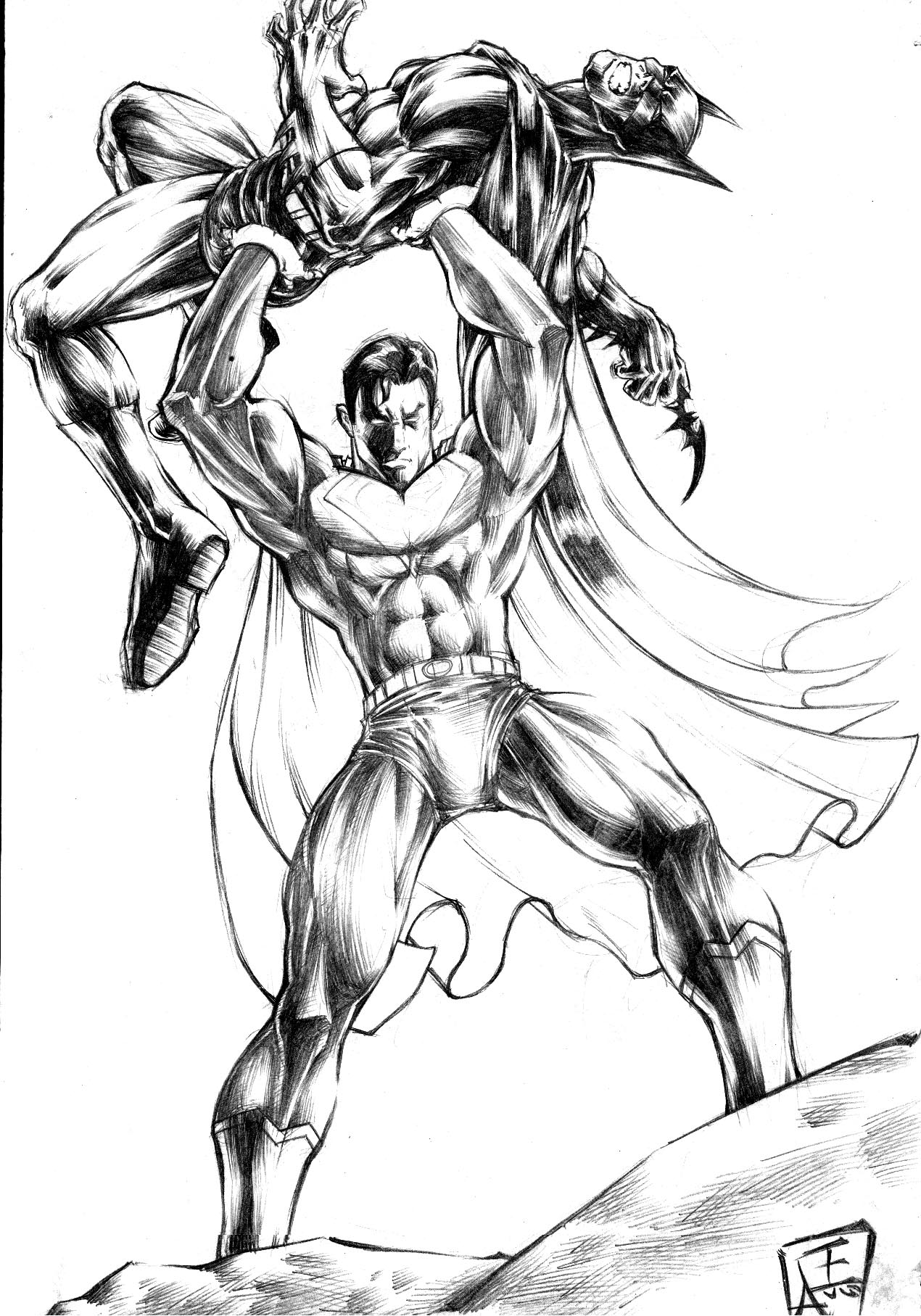 Coloriage superman les beaux dessins de super h ros imprimer et colorier page 11 - Superman et batman dessin anime ...