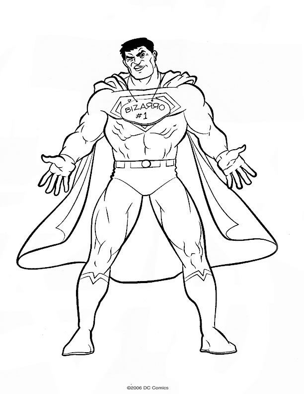 coloriage de superman