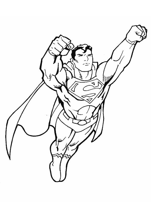 Coloriage Superman Les Beaux Dessins De Super Héros à