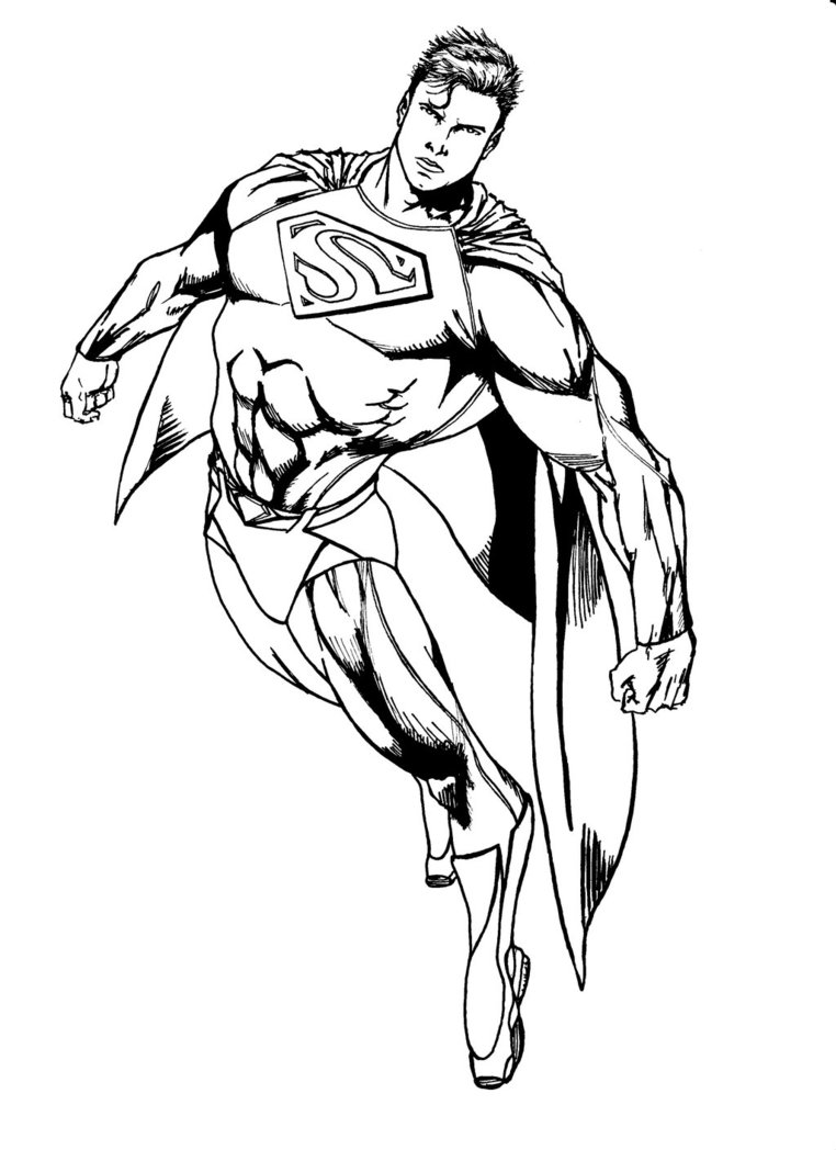 Coloriage Superman Les Beaux Dessins De Super H 233 Ros 224