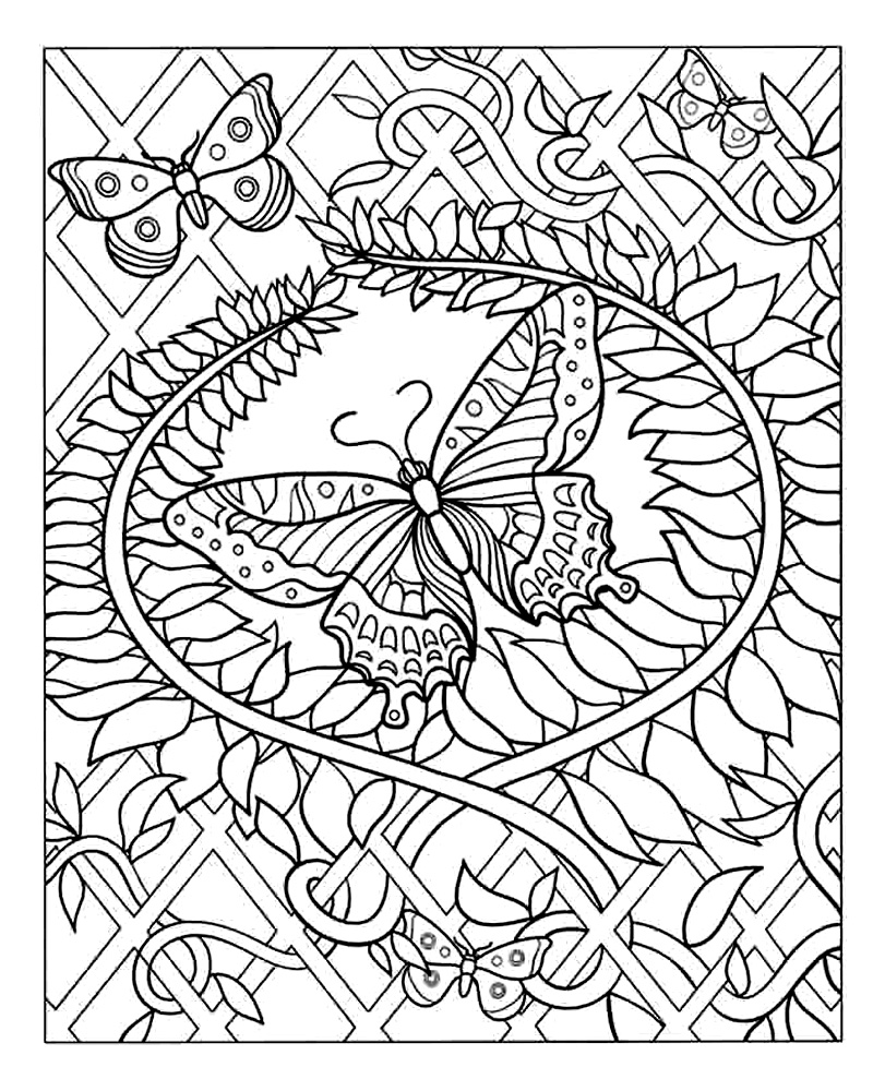 coloriage de therapie