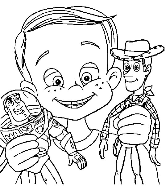 Colorful Coloriage Toy Story 3 Buzz Vole Frieze - Coloring Page ...