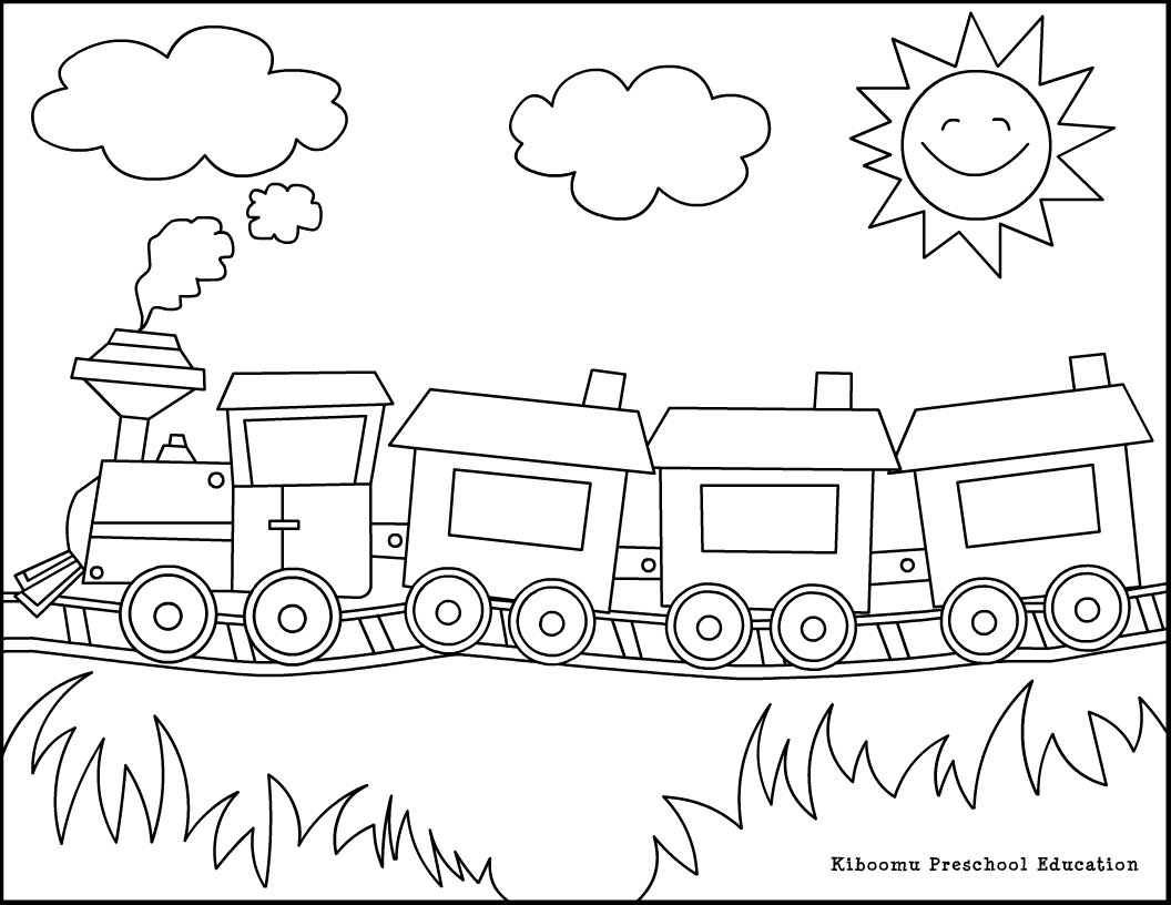 coloriage de train