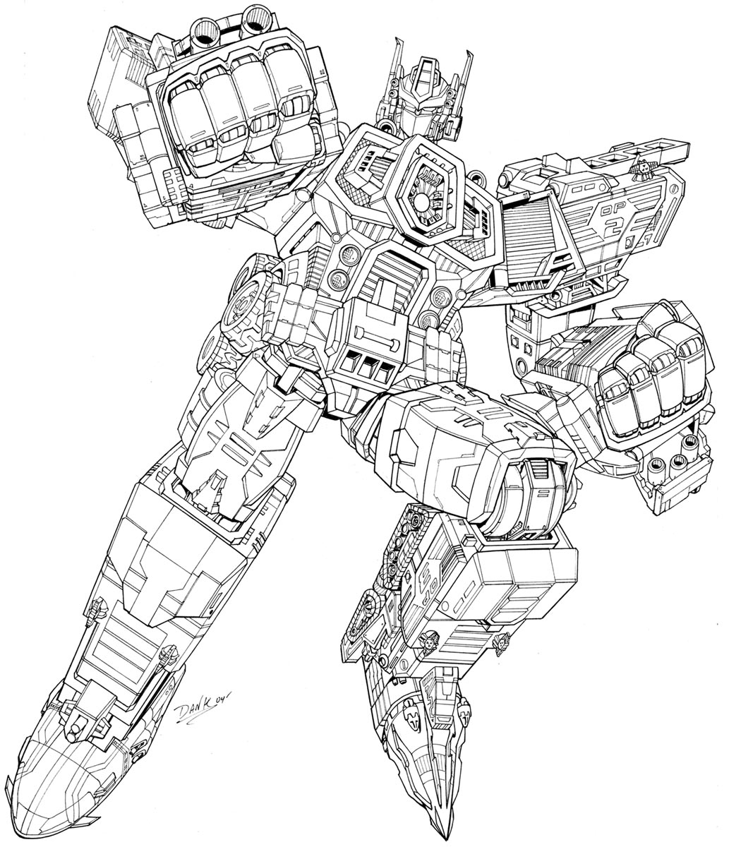 Coloriage transformers les beaux dessins de super h ros imprimer et colorier - Dessin optimus prime ...
