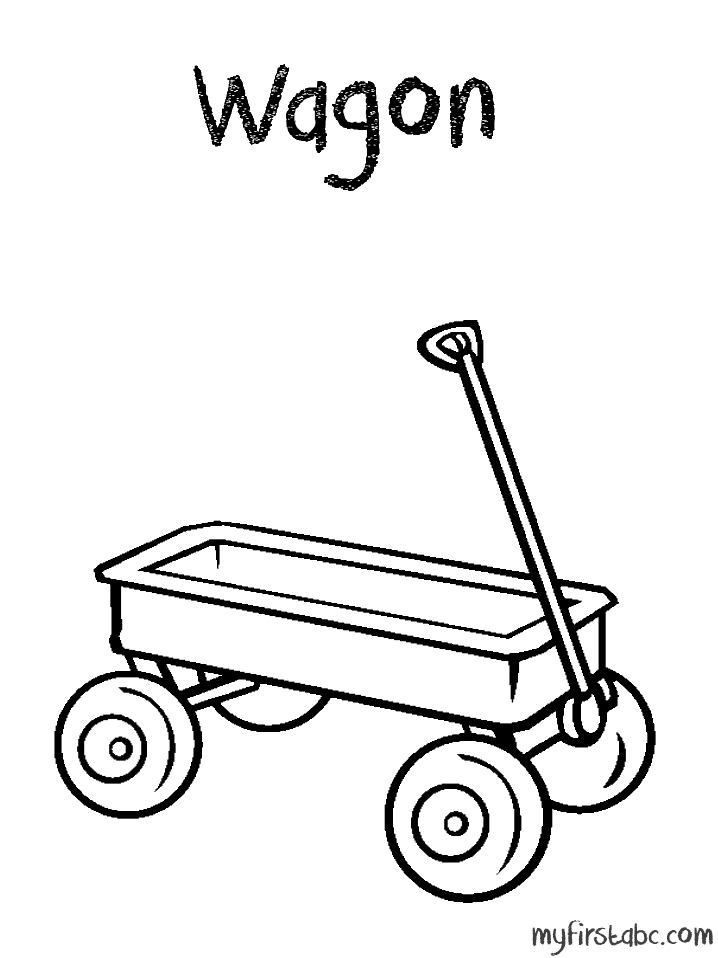 coloriage de wagon