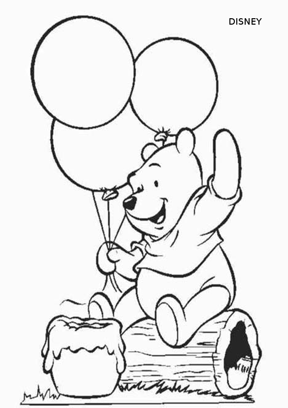 Coloriage Winnie L\'ourson - Les beaux dessins de Dessin Animé à ...